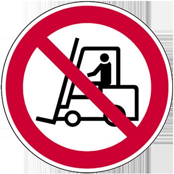 Für Flurförderfahrzeuge verboten | Piktogramme und Sicherheitsschilder