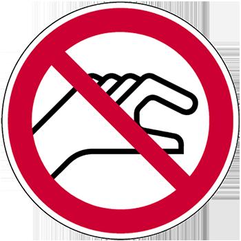 Hineinfassen verboten | Piktogramme und Sicherheitsschilder