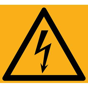 Elektrische Spannung | Piktogramme und Sicherheitsschilder