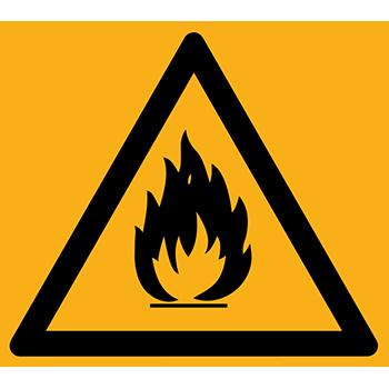 Feuergefährliche Stoffe | Piktogramme und Sicherheitsschilder
