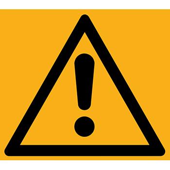 Gefahrenstelle | Piktogramme und Sicherheitsschilder