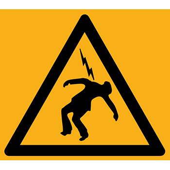 Überschlagende Spannung | Piktogramme und Sicherheitsschilder
