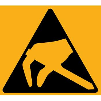 Elektrisch gefährdete Bauelemente | Piktogramme und Sicherheitsschilder