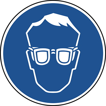 Augenschutz benutzen | Piktogramme und Sicherheitsschilder