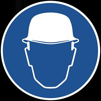 Schutzhelm benutzen | Piktogramme und Sicherheitsschilder