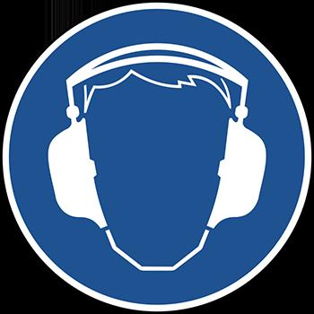 Gehörschutz benutzen | Piktogramme und Sicherheitsschilder