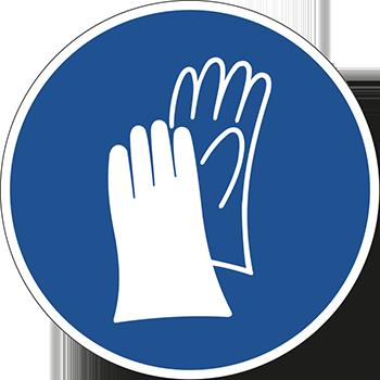 Handschutz benutzen | Piktogramme und Sicherheitsschilder