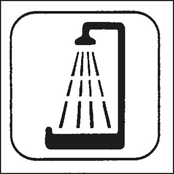Dusche | Piktogramme und Sicherheitsschilder