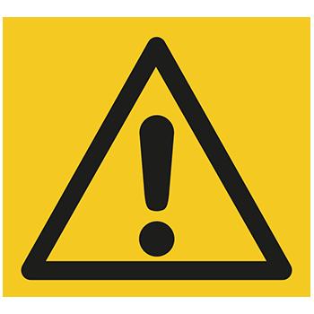 Allgemeines Warnzeichen | Piktogramme und Sicherheitsschilder