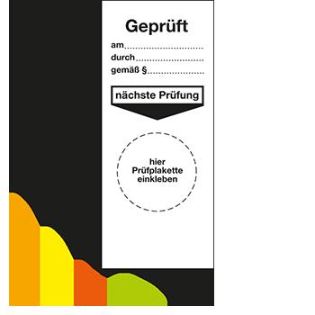 Grundplakette - Geprüft | Prüfplaketten