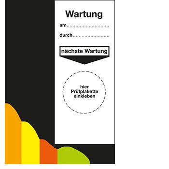 Grundplakette - Wartung | Prüfplaketten