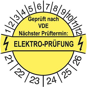 Elektro-Prüfung | Prüfplaketten