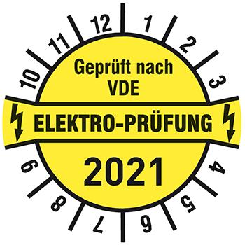 Geprüft nach VDE Elektroprüfung 2020 | Prüfplaketten