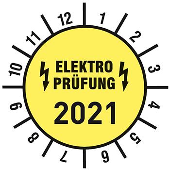 Elektroprüfung 2021 | Prüfplaketten