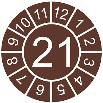 21 (braun) | Prüfplaketten