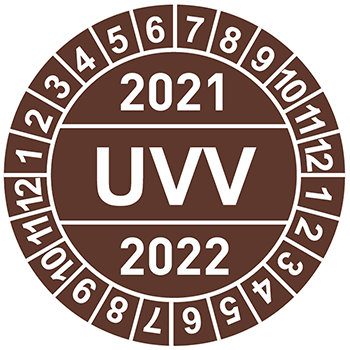 UVV (2021-2022) | Prüfplaketten