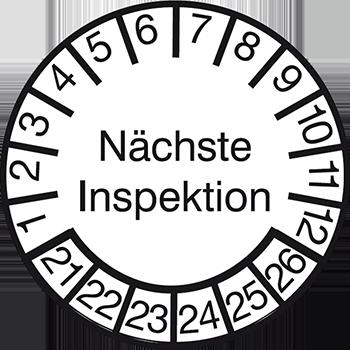 Nächste Inspektion | Prüfplaketten