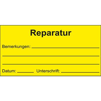 Reparatur | Qualitätssicherungsetiketten