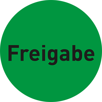 Freigabe | Qualitätssicherungsetiketten