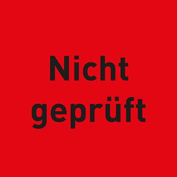 Nicht geprüft | Qualitätssicherungsetiketten
