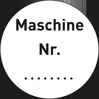 Maschine Nr. | Qualitätssicherungsetiketten