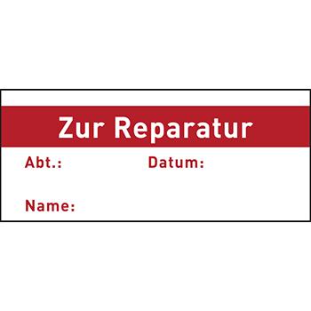 Zur Reparatur | Qualitätssicherungsetiketten
