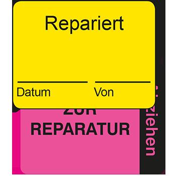 Repariert | Qualitätssicherungsetiketten