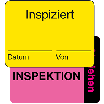 Inspizert | Qualitätssicherungsetiketten