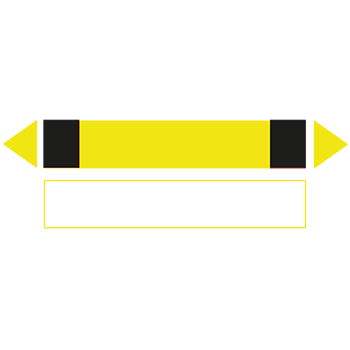 Gelb-Schwarz | Rohrmarkierungen