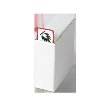 Kartonspender (80x80x30) | Etikettenspender