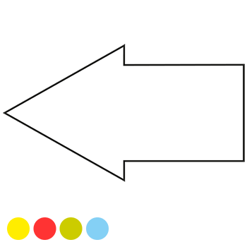 Pfeil, 50 x 28 mm | Symbole
