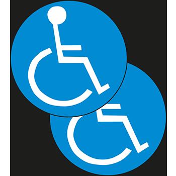 Rollstuhl | Tür und Fensterschilder