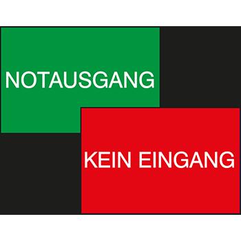 Notausgang/Kein Eingang | Tür und Fensterschilder