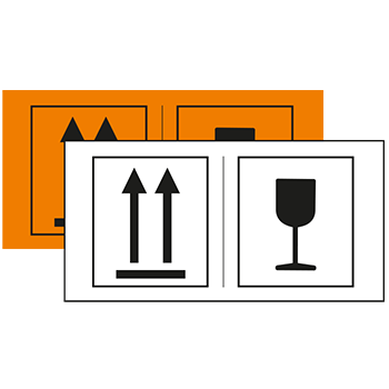 2 Motive | Versandgut und Verpackungsetiketten