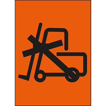 Keine Stapler ansetzen | Versandgut und Verpackungsetiketten