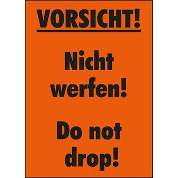 Vorsicht! Nicht werfen! | Versandgut und Verpackungsetiketten