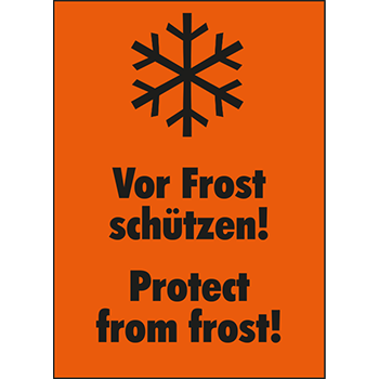 Vor Frost schützen | Versandgut und Verpackungsetiketten