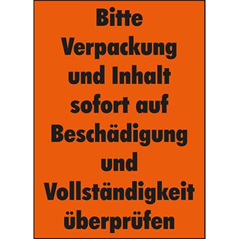 Verpackung und Inhalt überprüfen | Versandgut und Verpackungsetiketten