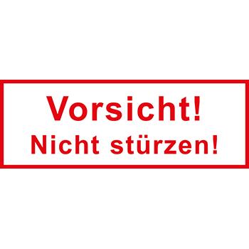 Vorsicht! Nicht stürzen! | Versandgut und Verpackungsetiketten