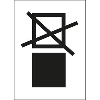 Nicht stapeln | Versandgut und Verpackungsetiketten