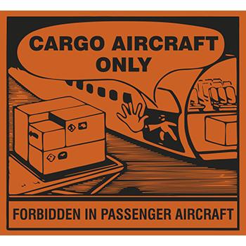 Cargo aircraft only | Versandgut und Verpackungsetiketten
