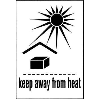 keep away from heat | Versandgut und Verpackungsetiketten